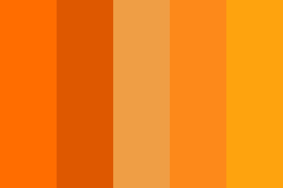 Orange Spring Color Palette