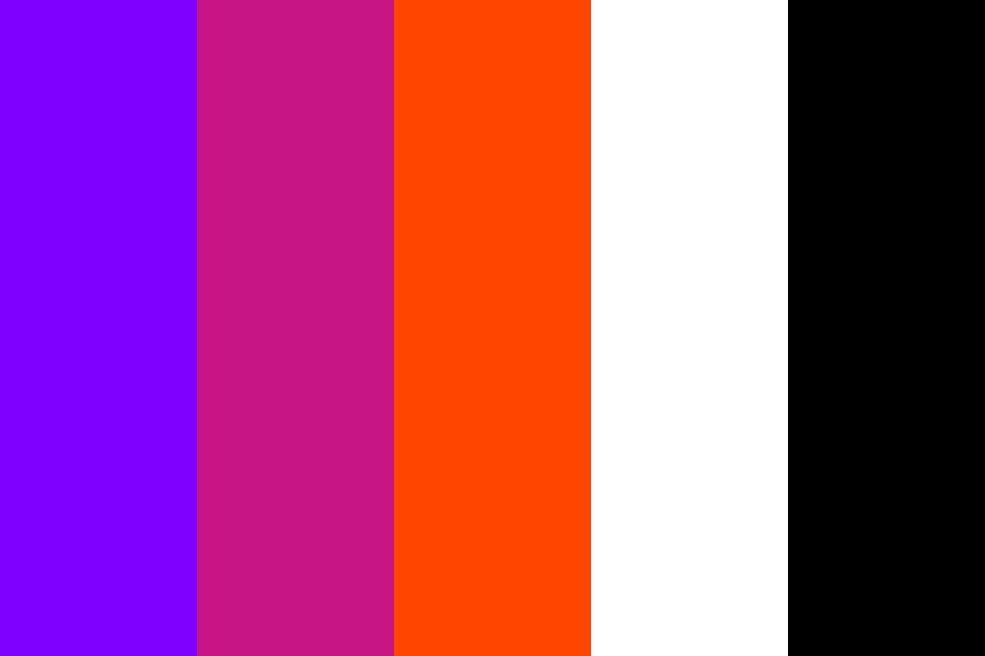 Orange To Blue Tertiary Shades Color Palette