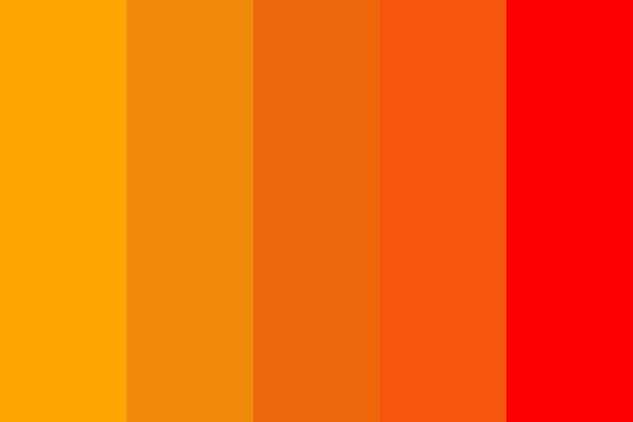 Orange To Red Buddies Color Palette