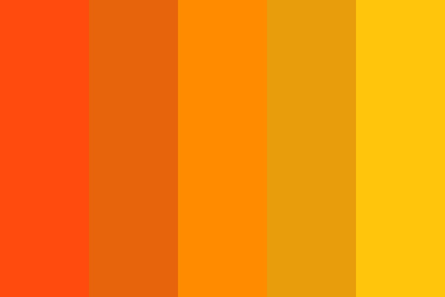 Orange To Yellow Color Palette