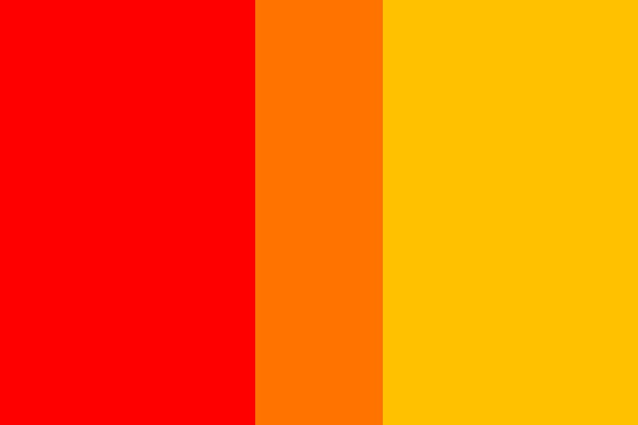 Orange Yellow And Red Color Palette