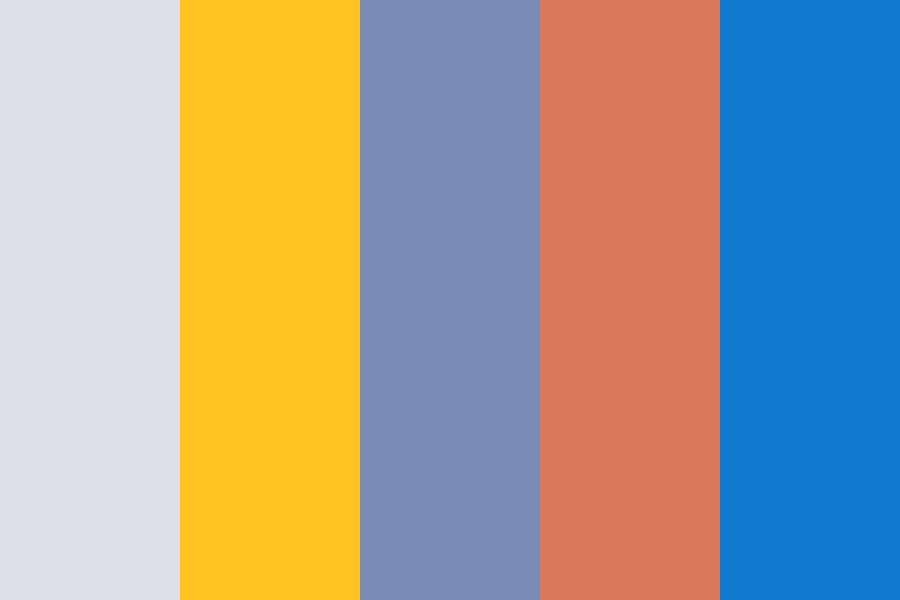 Orange blue gold Color Palette