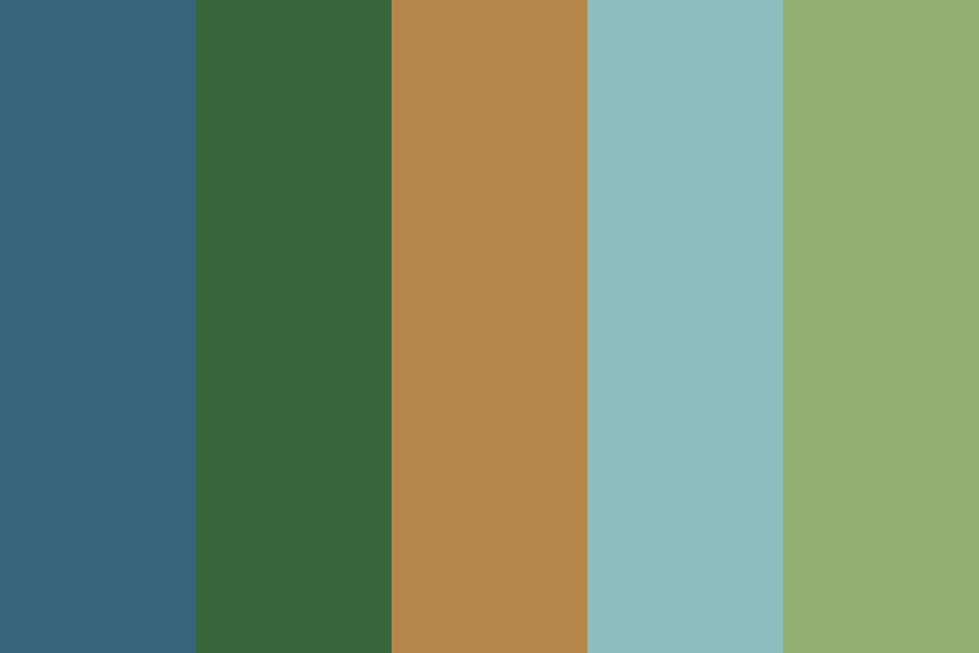 Pacific Northwest Forest Color Palette