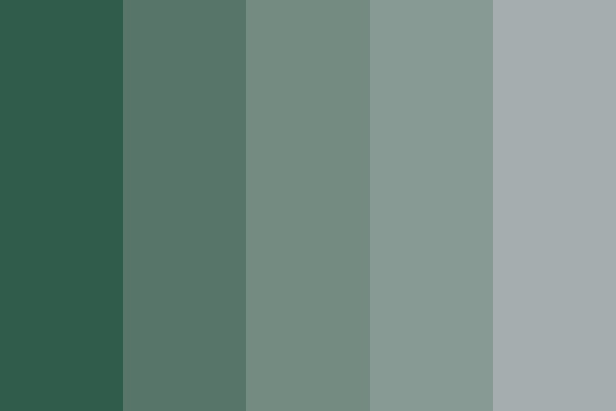 Pale Green To Gray Color Palette