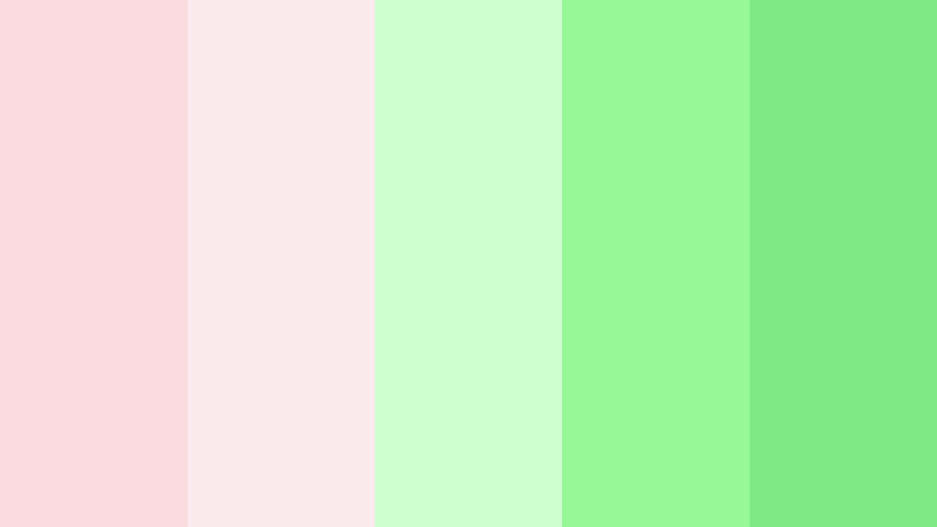 Pale Pink And Green Color Palette