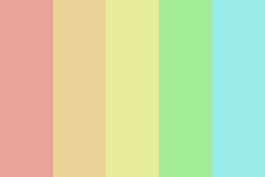 Pale Rainbow In The Sky Color Palette