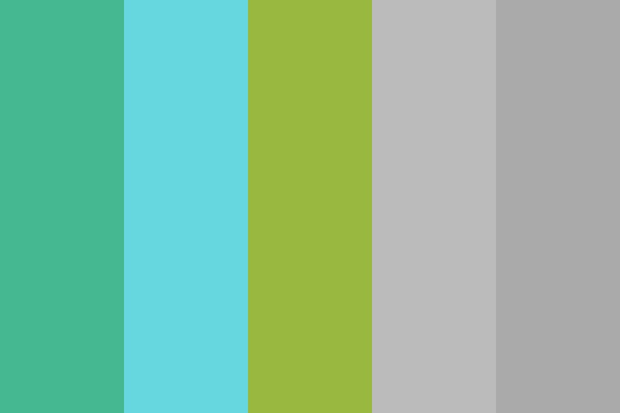 Pale Teal Blue Green Color Palette