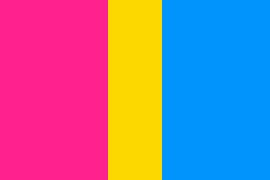 Pansexual Flag Color Palette