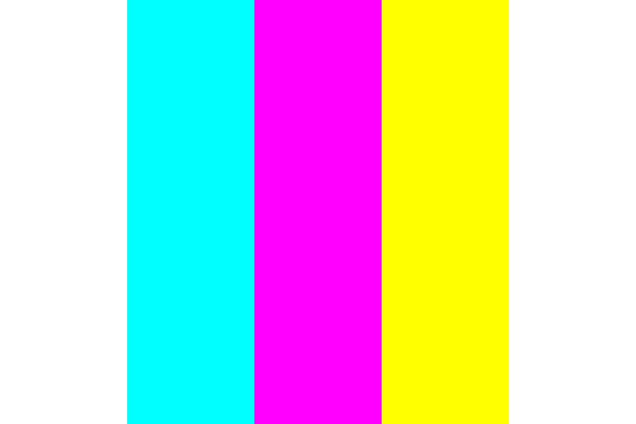 Pansexual Flag With White Color Palette