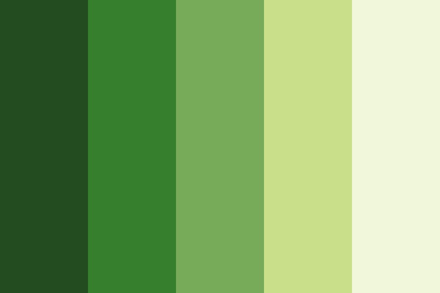 Parrot Green Color Palette