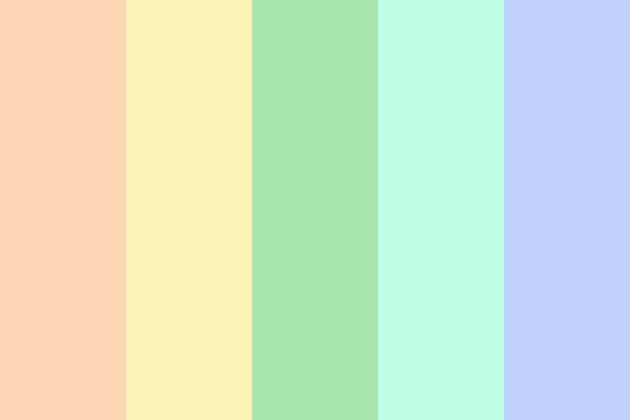 Pastel Beach Afternoon Color Palette