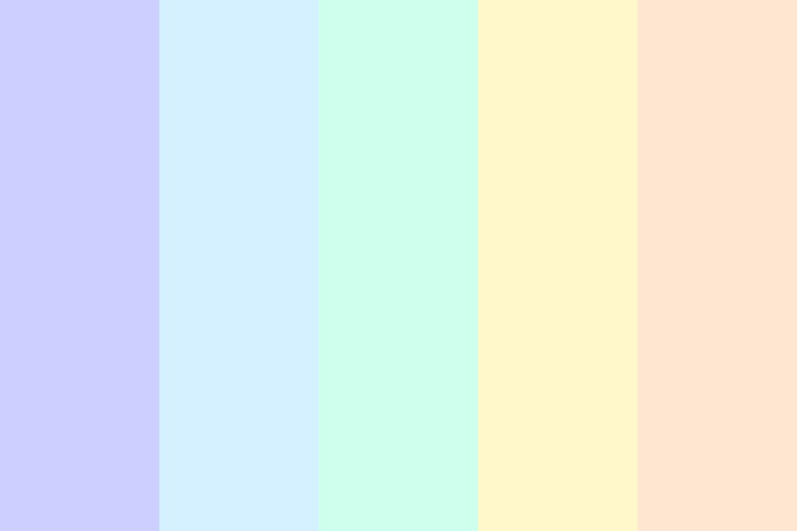 Pastel Beach Lollipop Color Palette