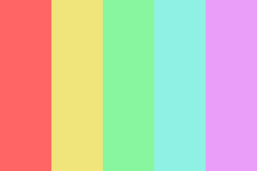 Pastel Birthday Cake Color Palette