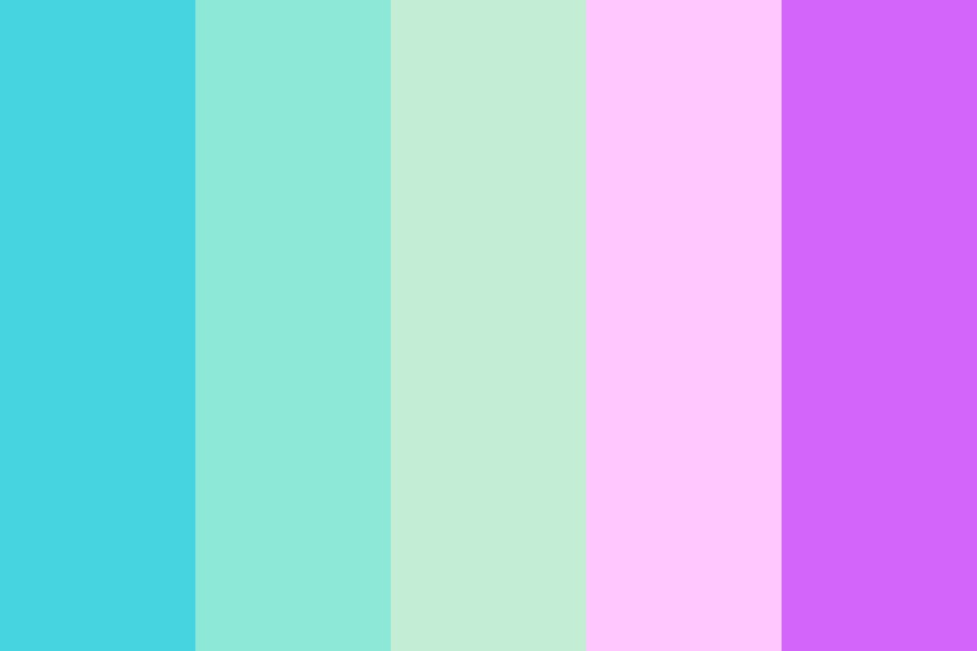 Pastel Blue To Red Color Palette