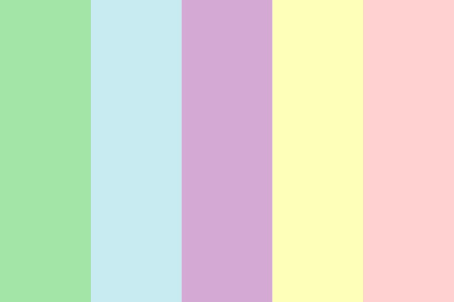 Pastel Colors Rainbowish Color Palette