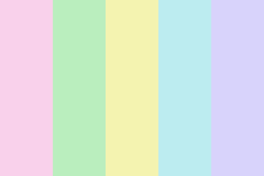 Pastel Easter Eggs Color Palette
