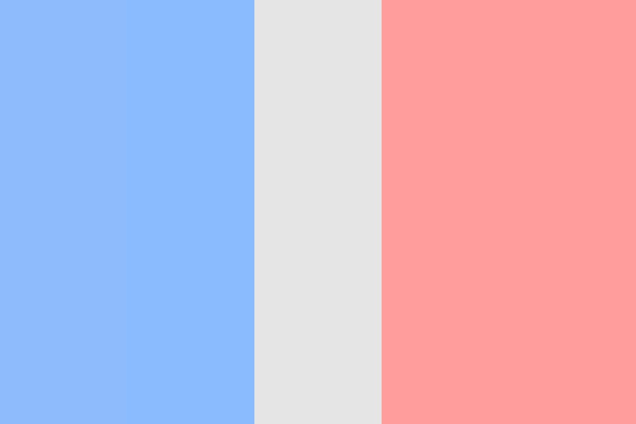 Pastel French Flag Color Palette