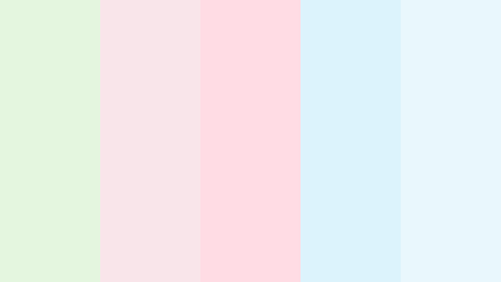 Pastel Green, Red And Blue Color Palette