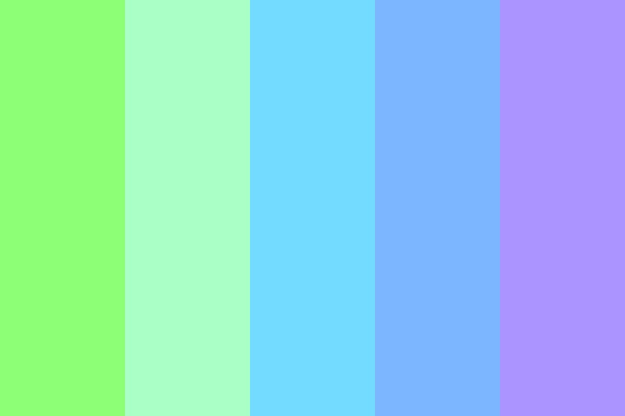 Pastel Green To Purple Color Palette