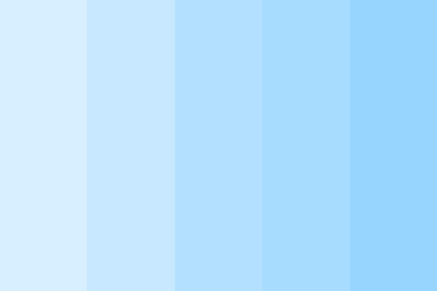 Pastel Light Blue Uwu Color Palette