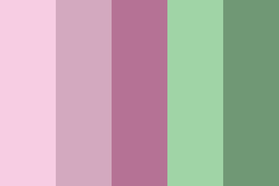 Pastel Pink And Green Color Palette