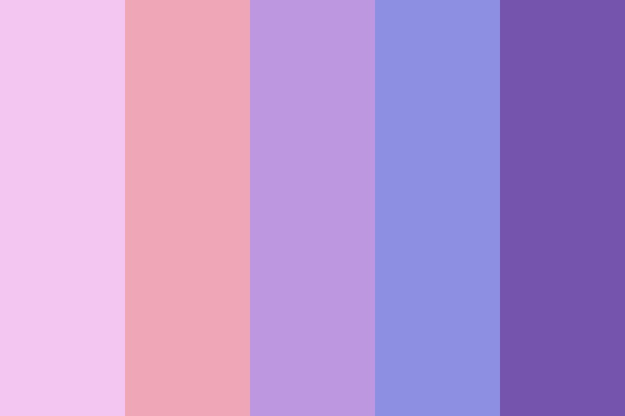 Pastel Pink To Purple Color Palette