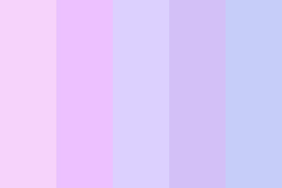 Pastel Pinks And Purples And Also A Blue Color Palette