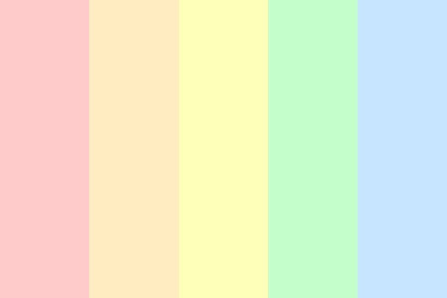 Pastel Rainbow Aesthetic Color Palette