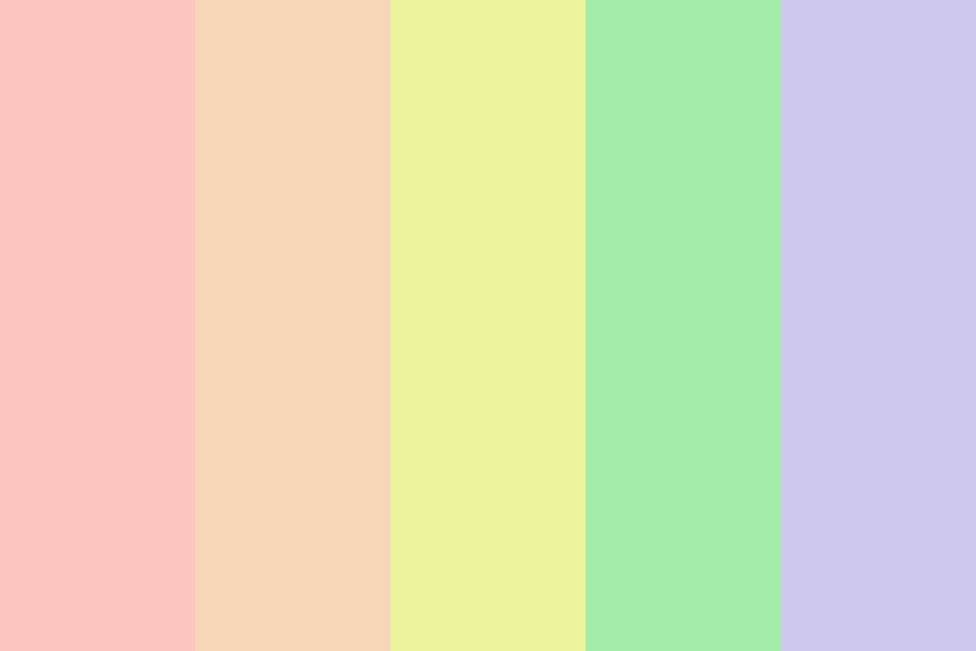 Pastel Rainbow If It Were Real Color Palette