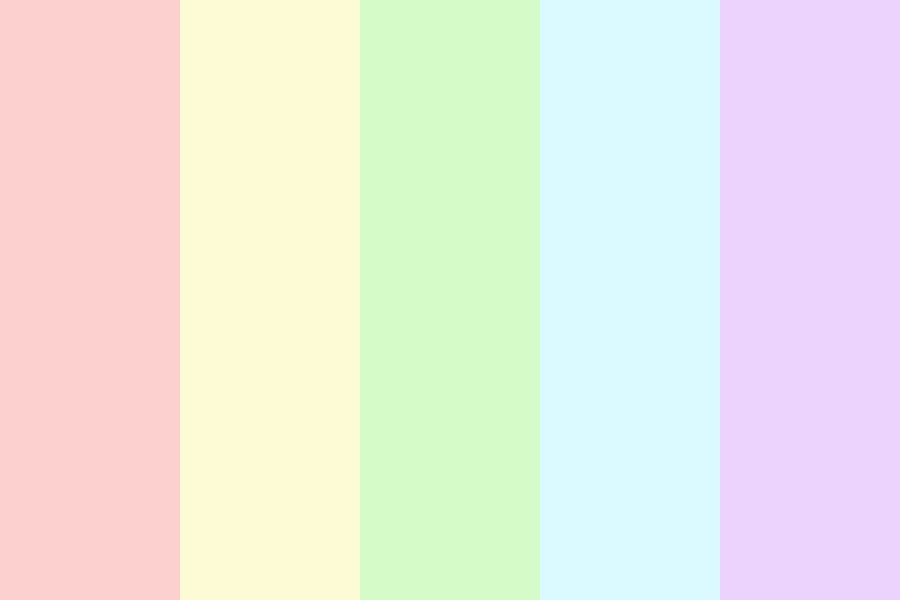 Pastel Rainbow Uwu Color Palette