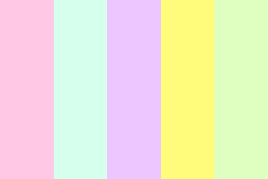Pastel Summer Beach Color Palette