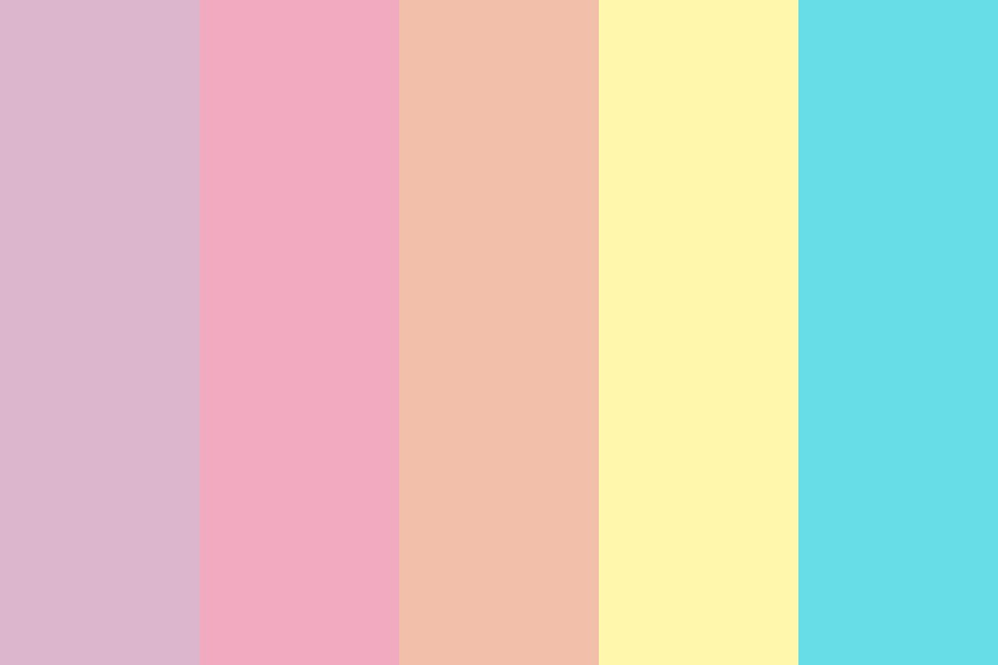 Pastel Summer Sky Color Palette