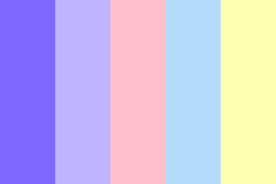 Pastel With A Pop Of Purple Color Palette
