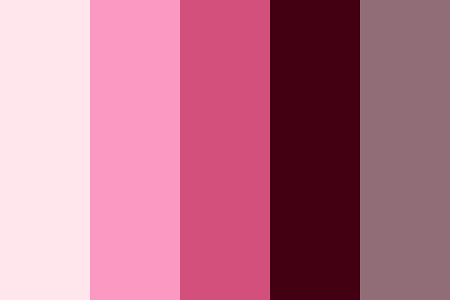 Pastelgoth Bubblegum Color Palette