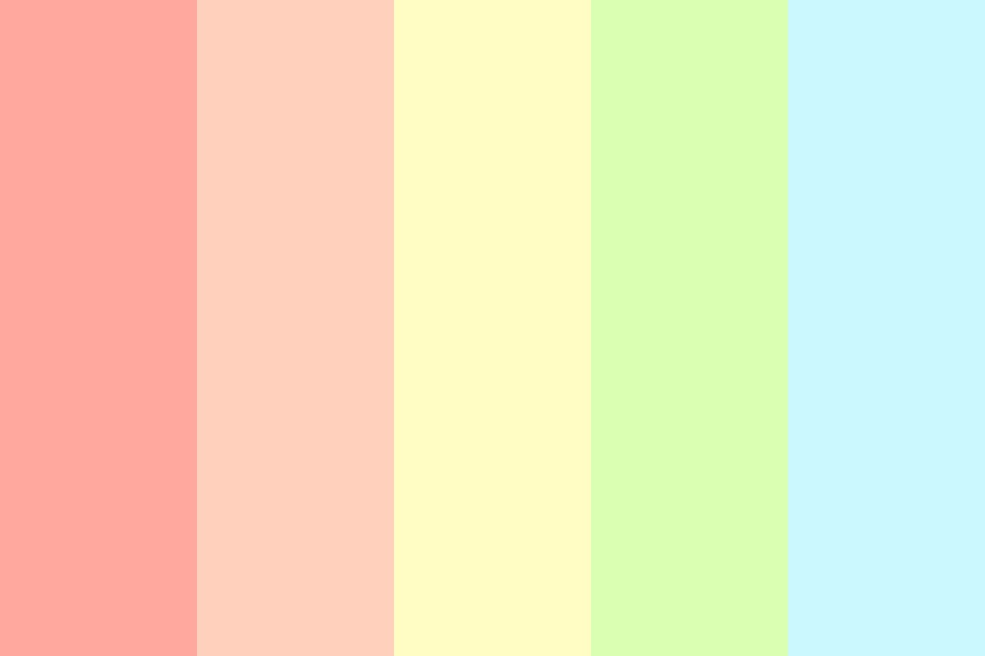 Pastelrainbow Color Palette