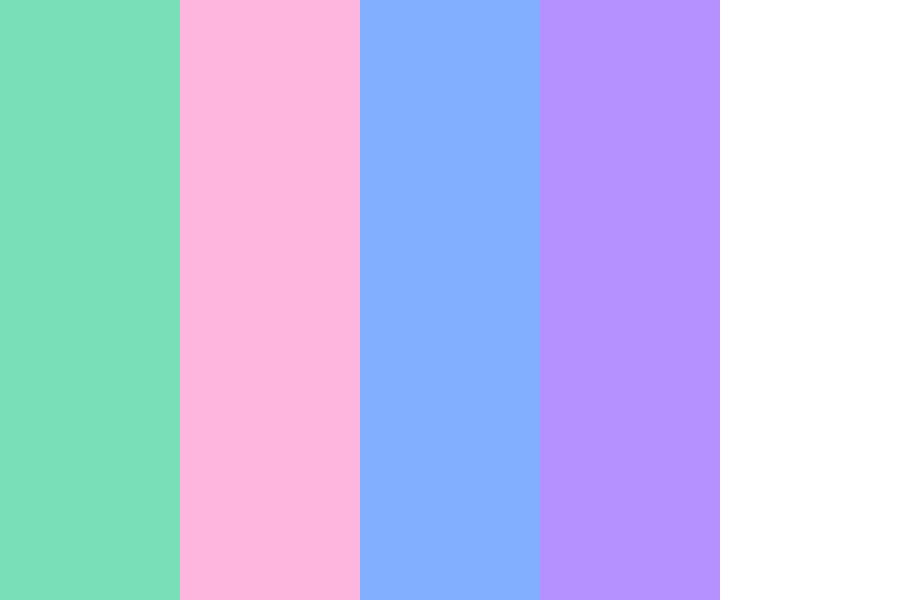 Pastels And White Color Palette