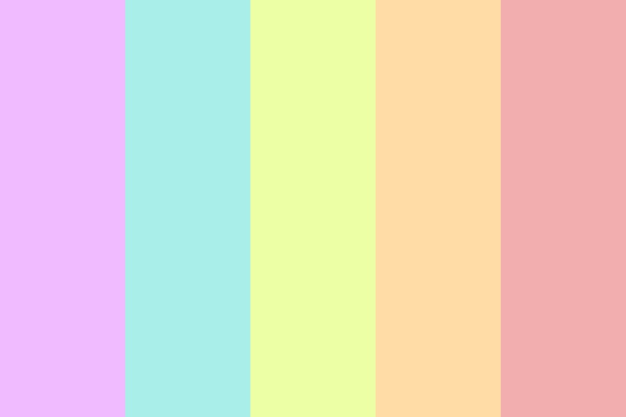 Pastels In All Of Their Glory Color Palette