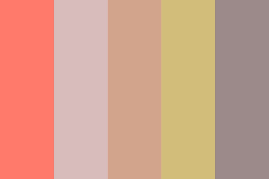 Peach And A Lemon Forbidden Love Color Palette