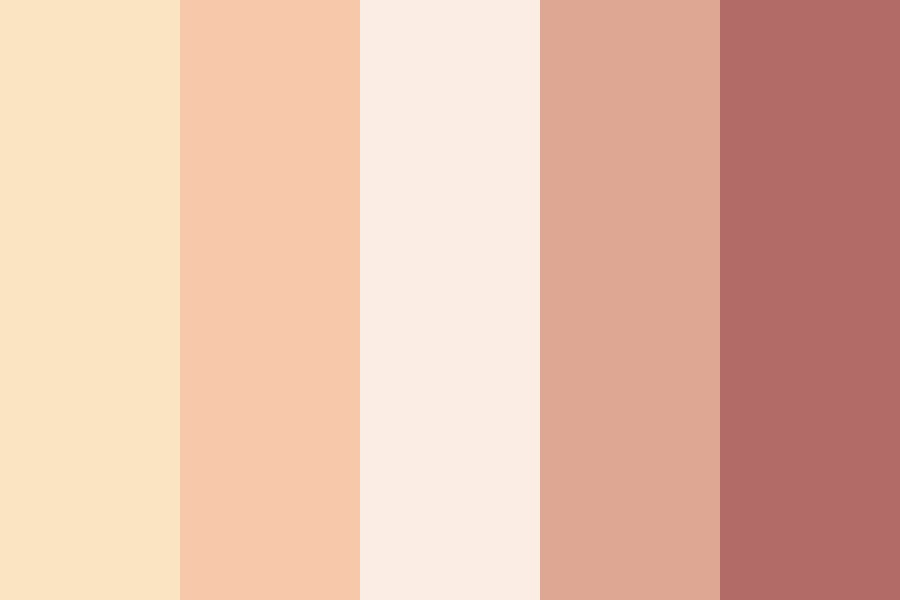 Peach Rose Color Palette
