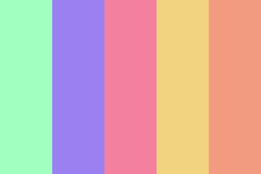 Peaches And Pastels Color Palette