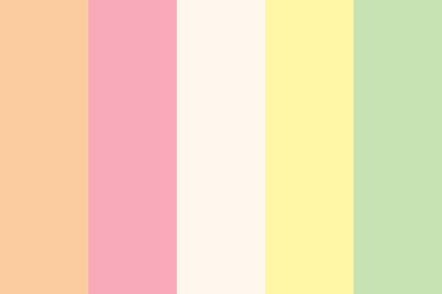 Peaches N Cream Color Palette