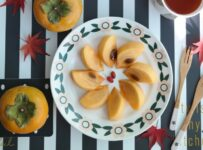 Persimmon Fruit Plate Color Palette
