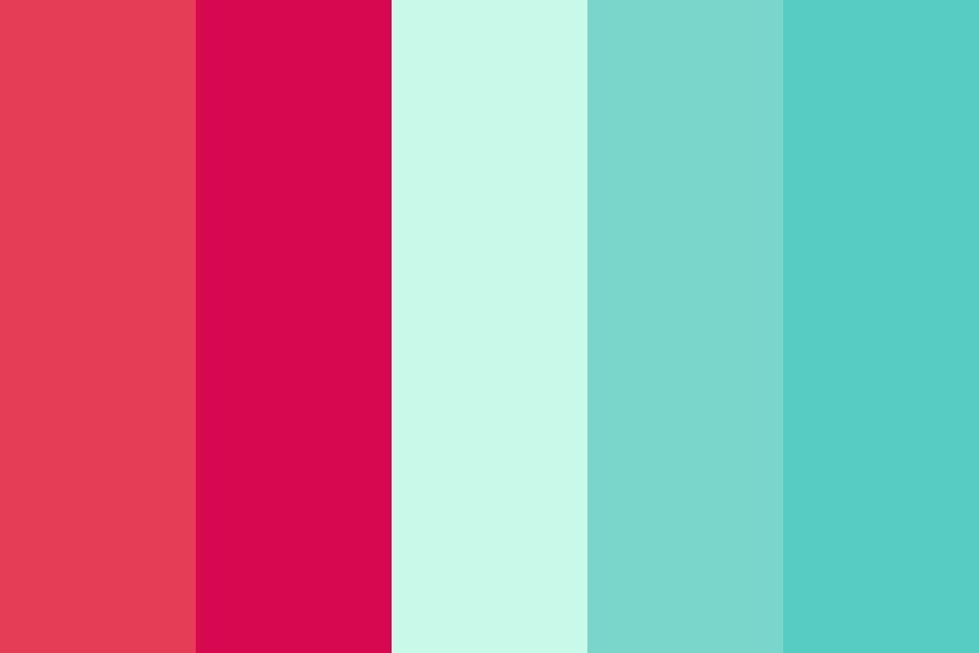 Pink And Teal Pop Color Palette