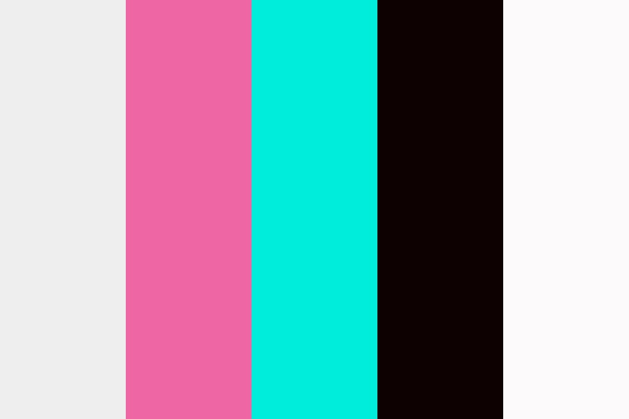 Pink And Turquiose Color Palette