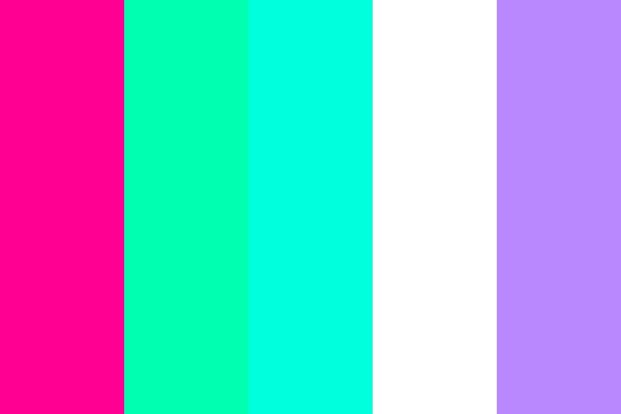 Pink And Turquoise Color Palette