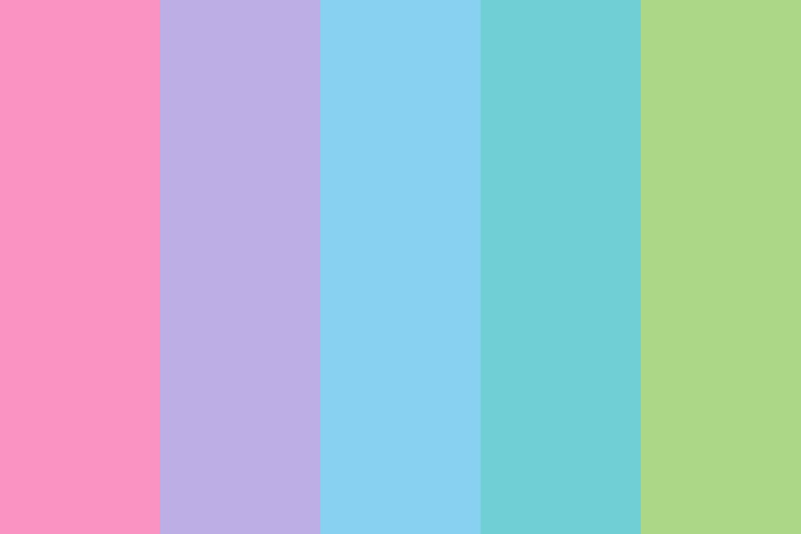Pink To Green Color Palette