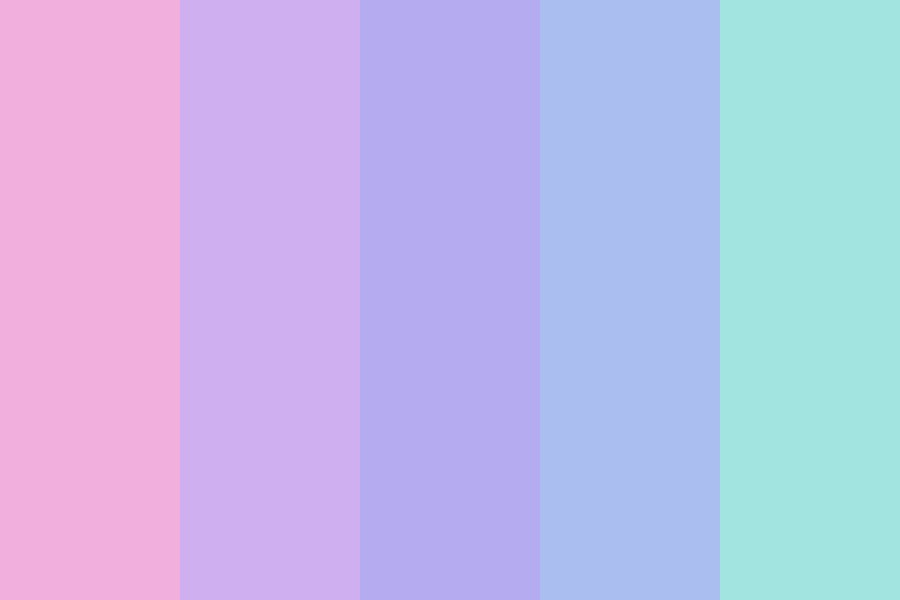 Pink To Teal Color Palette