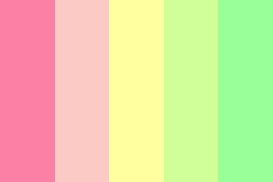 Pinky Yellowy Greeny K Color Palette