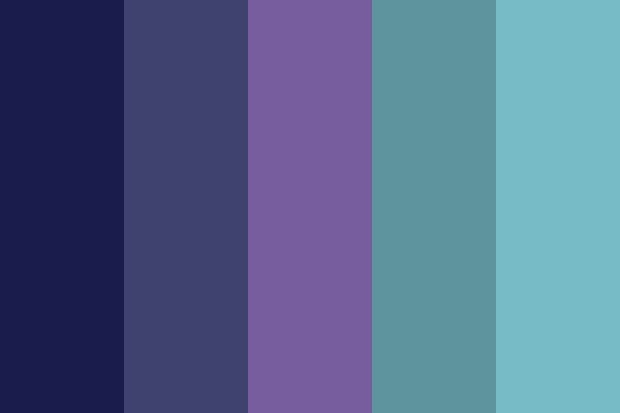 Pisces Midnight Sea Color Palette
