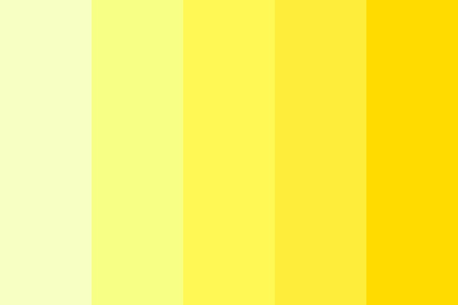 Piss Yellow Color Palette